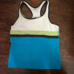 Multi-colored Workout Tee